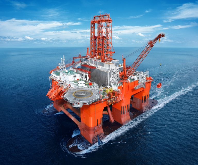 Semi Submersible Platform Oil Rig