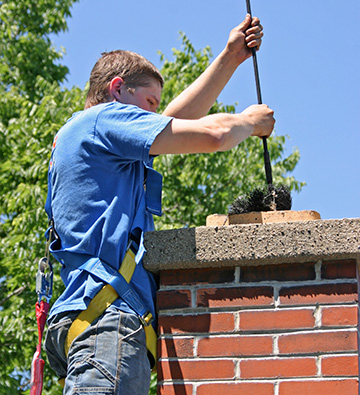 worker making Chimney