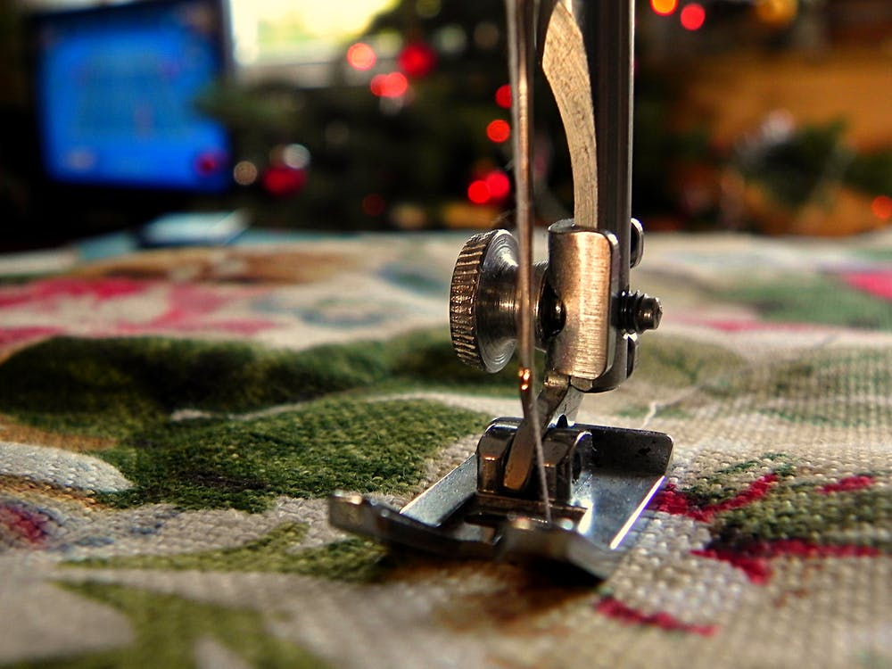 sewing machine closer look