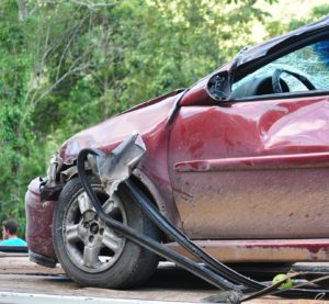 a broken car